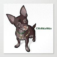 Taco T. Man (Chihuahua) Canvas Print