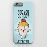 iPhone & iPod Case featuring Are you bored? Just eat me! by Manolibera