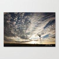 Sandhills Windmill @ Sun… Canvas Print