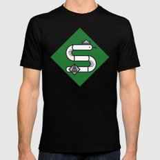 Slytherin House Crest Mens Fitted Tee Black SMALL