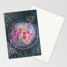 Portrait of an imaginary planet Stationery Cards