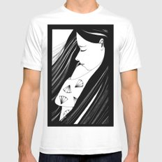 Sombre Mens Fitted Tee White SMALL
