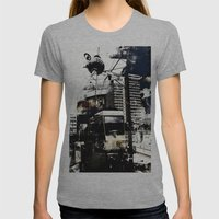 Berlin Art Womens Fitted Tee Athletic Grey SMALL
