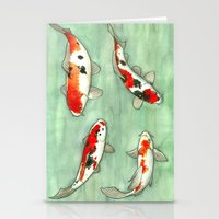 La Ronde Des Carpes Koï Stationery Cards