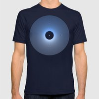 Record Mens Fitted Tee Navy SMALL