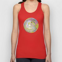 Abstract in Shimmery Pastel Colors Unisex Tank Top