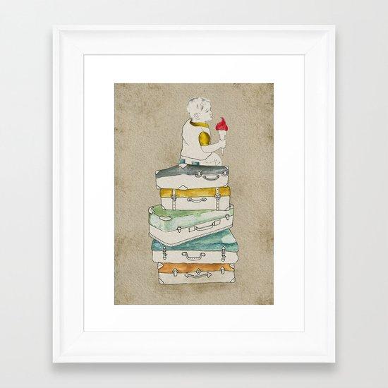 happy holiday Framed Art Print