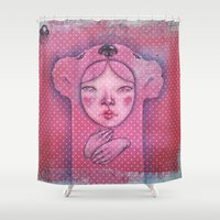 The ghost of you Shower Curtain