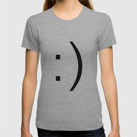 smiley Womens Fitted Tee Athletic Grey SMALL