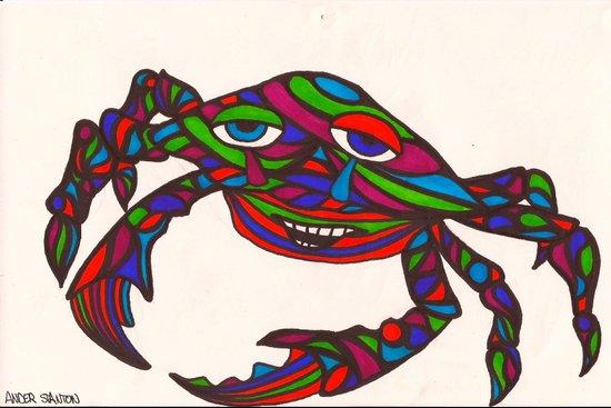 kaleido-crab Art Print