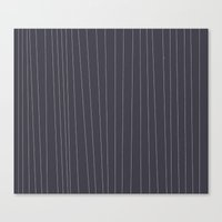 Grey and White stripe Canvas Print