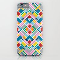 iPhone & iPod Case featuring Map Outline 45 Repeat by Project M