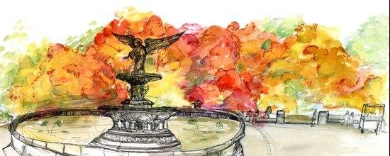 Central Park: Bethesda Fountain Art Print