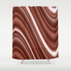 Chocolate Cream Mix Text… Shower Curtain