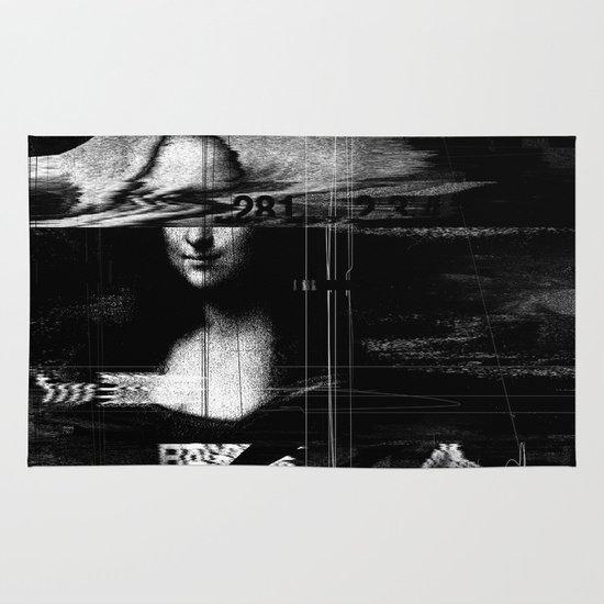 Mona Lisa Glitch Area & Throw Rug