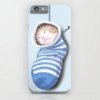 Cat In The Sock iPhone 6 Slim Case