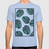 CALIFORNIA TROPICALIA Mens Fitted Tee Tri-Blue SMALL