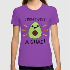 I don't give a guac! Womens Fitted Tee Ultraviolet SMALL