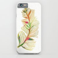 feather iPhone & iPod Cases featuring Feather by Klara Acel