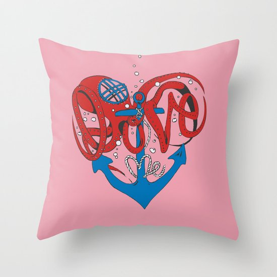 Deeply in Love Throw Pillow
