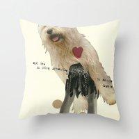 perrito faldero Throw Pillow
