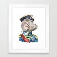 Admiral hippo Framed Art Print