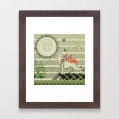 A Wolf On Fire Amaterasu Framed Art Print