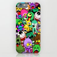Monsters Doodles Characters Saga iPhone 6 Slim Case