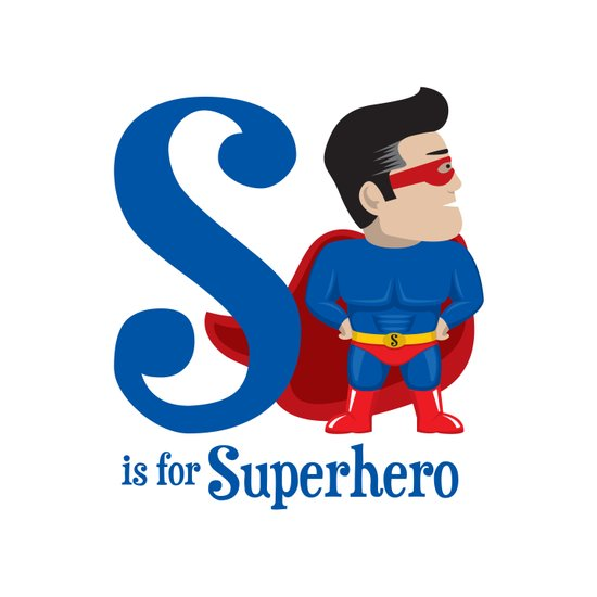 S is for Superhero Art Print