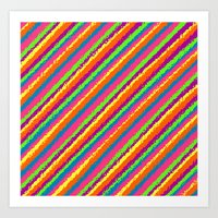 Crazy Colorz Art Print