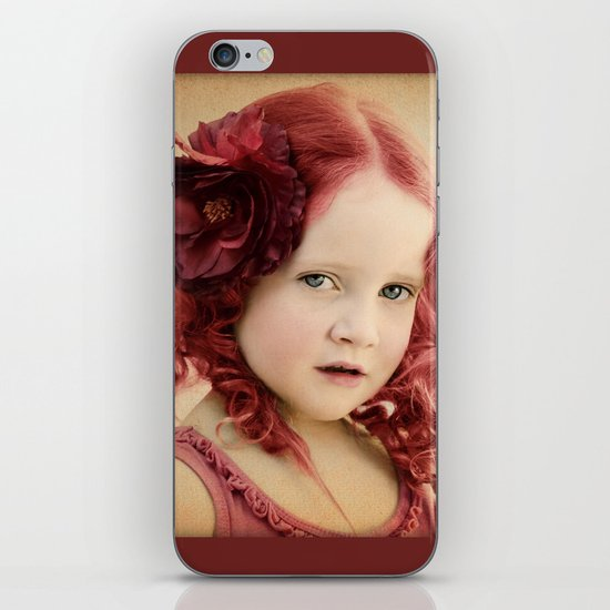 Mila as a Vintage Rose iPhone & iPod Skin