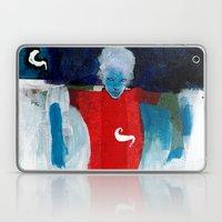woman in the wind Laptop & iPad Skin