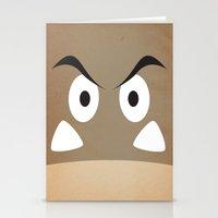 minimal shroom Stationery Cards
