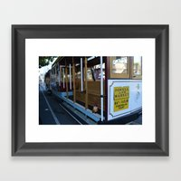 Cable Car Gnome Framed Art Print