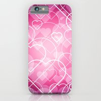 iPhone & iPod Case featuring Hard line Heart Bokeh by rollerpimp
