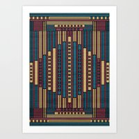 GeoAbstract Art Print