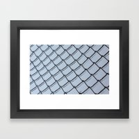 Silver And Cold Framed Art Print