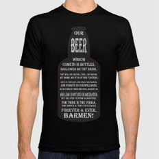 BEER PRAYER version 2.0 Mens Fitted Tee SMALL Black