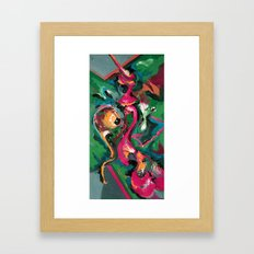 Wish pink Framed Art Print