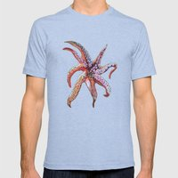Tentacles Mens Fitted Tee Tri-Blue SMALL