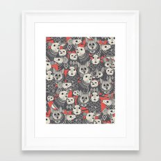 sweater mice coral Framed Art Print