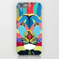 iPhone Cases featuring lion by mark ashkenazi
