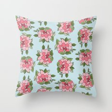 Antique Flower Throw Pillow