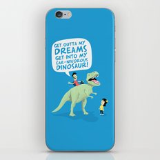 my car-nivorous dinosaur iPhone & iPod Skin
