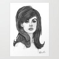 Jean Shrimpton Art Print