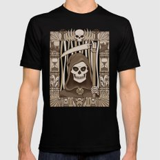 COWER BRIEF MORTALS Mens Fitted Tee Black SMALL