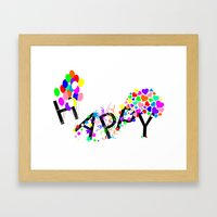 Just Happy Framed Art Print