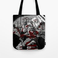 Zombie Rush (Gray Tone V… Tote Bag