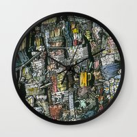 Dirty dishes Wall Clock