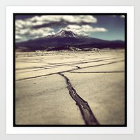 Art Print featuring mt. shasta by sandra lee russell